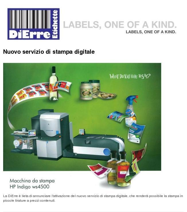 Eccezionale Stampa etichette adesive autoadesive Produzione piccole tirature  FN73